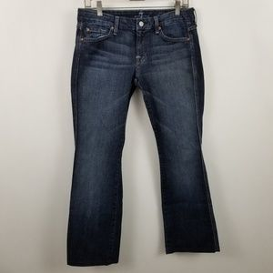 7 For All Mankind A Pocket Womens Boot Cut Jeans